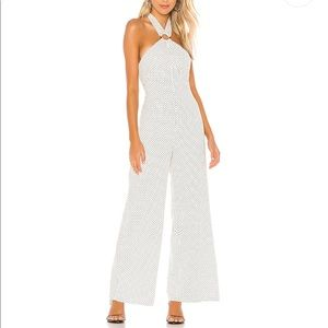 NEW TULAROSA AUBRIELLE JUMPSUIT IN IVORY AND BLACK